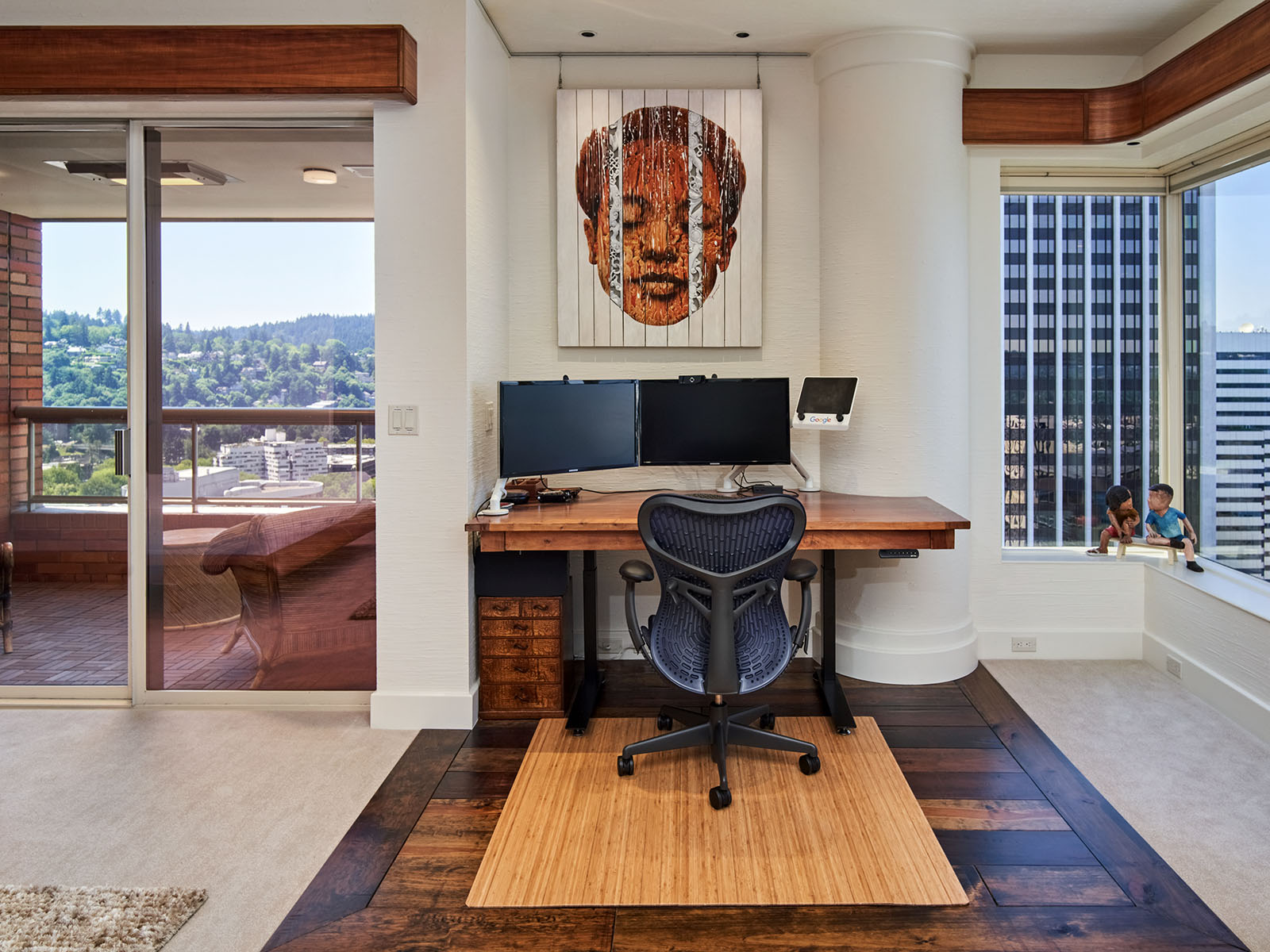 Office space in master bedroom